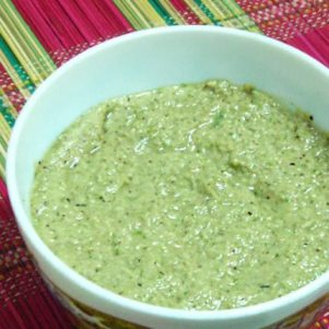 Coconut Chutney with Mustard Seeds