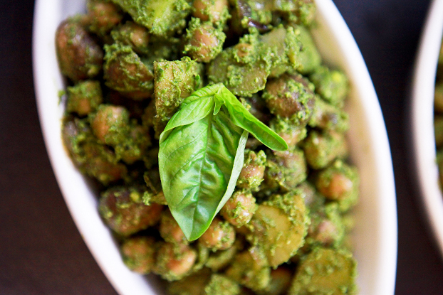 Chickpea with Coconut Pesto