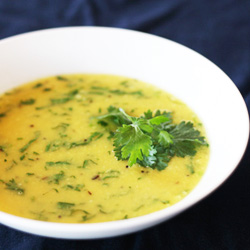 Mung Dal, Coconut & Cilantro Kitchari (Pitta Reducing) Ayurveda Recipe