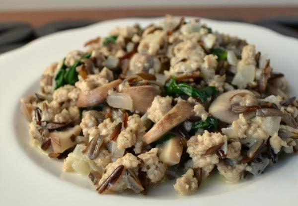 Rustic Rice with Wild Lamb's Quarters & Mushrooms