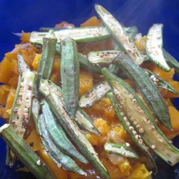 Sauteed Chipotle & Cumin Okra over Butternut Sq...