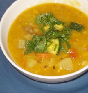 Coconut, Turmeric & Tomato Sambar Soup