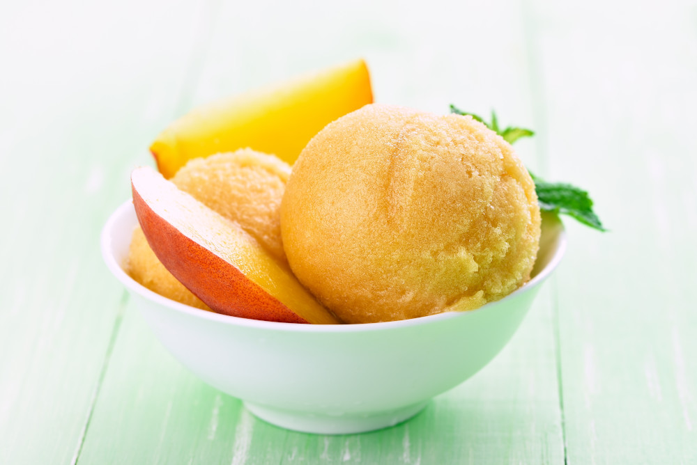 Rustic Peach Sorbet with Rosemary Oil Ayurveda Recipe
