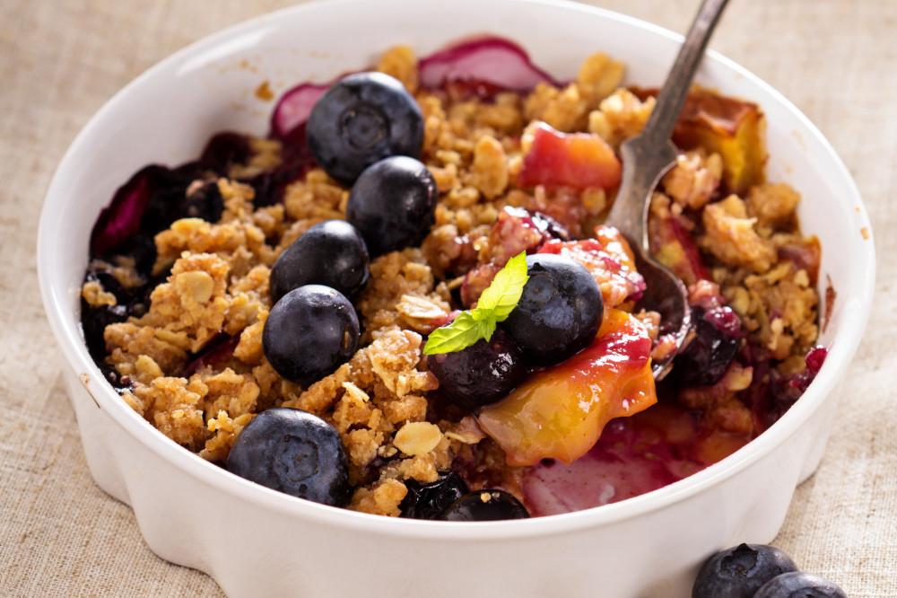 Peach Blackberry Bake with Nut Crust Ayurveda Recipe