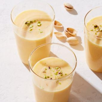 Peach Rosewater Lassi with Cardamom Ayurveda Recipe