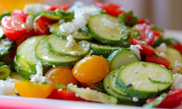 Summer Squash Arugula Salad