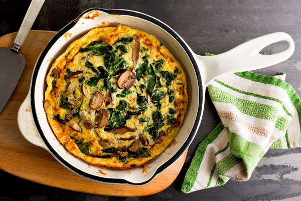 Mushroom Swiss Chard Frittata with Rosemary