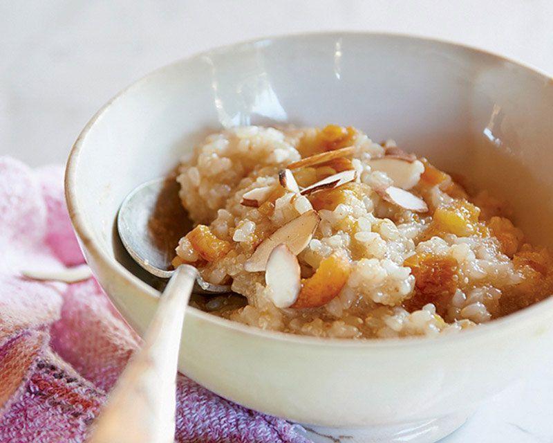Poached Apricot Breakfast Polenta Ayurveda Recipe