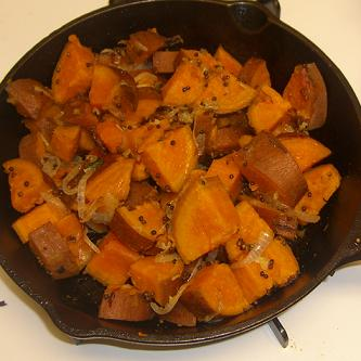 Sweet Potato with Pumpkin Spice & Mustard Seed
