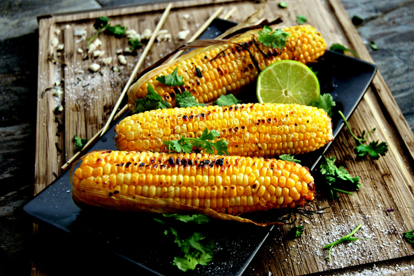 Corn on the Cob with Cilantro & Coriander Butter Ayurveda Recipe