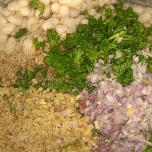 White Beans with Parsley & Onion Ayurveda Recipe