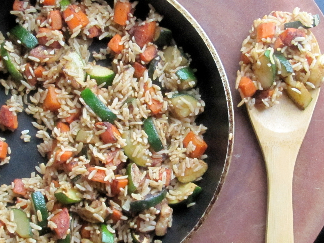 Rice with Carrots & Zucchini
