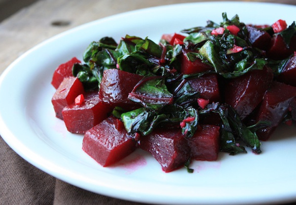 Beets & Greens with Coconut