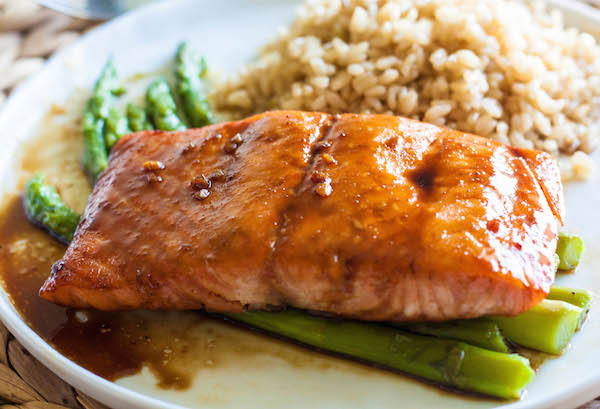 Ginger Glazed Salmon with Dijon Mustard - Ayurvedic Diet & Recipes