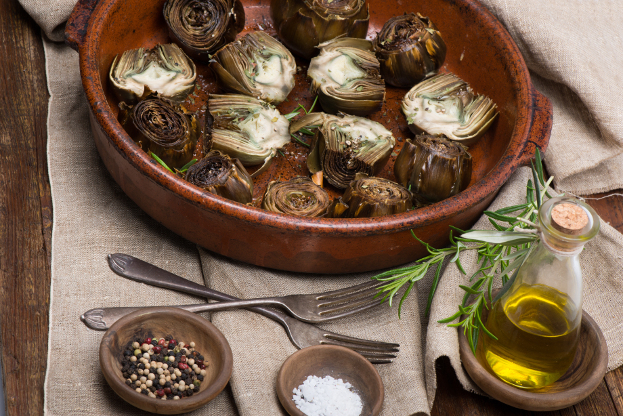 Grilled Artichoke Hearts & Red Peppers - Ayurvedic Diet ...