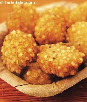 Fried Tapioca Patties with Cilantro, Ginger & Peanuts Ayurveda Recipe