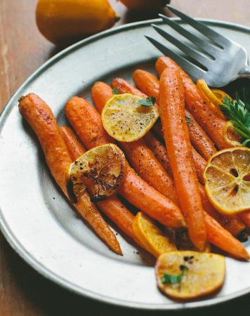 Carrots with Lemon & Honey