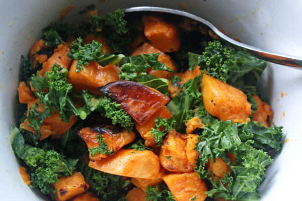 Sweet Potato with Kale Ginger