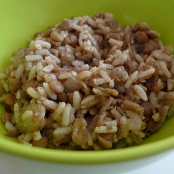Brown Rice with Cinnamon & Lentil