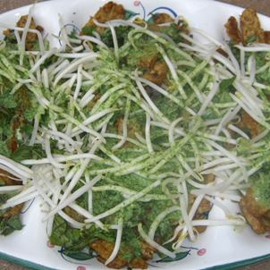Tempeh, Bean Sprouts & Cucumber with Mint Coconut Sauce Ayurveda Recipe
