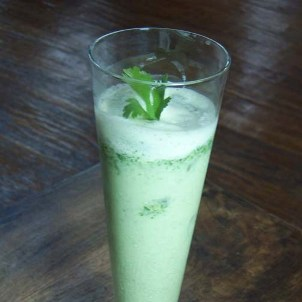 Cilantro Yogurt Lassi with Cucumber & Sugar