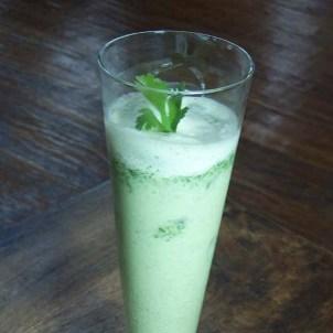 Cilantro Yogurt Lassi with Cucumber & Sugar Ayurveda Recipe