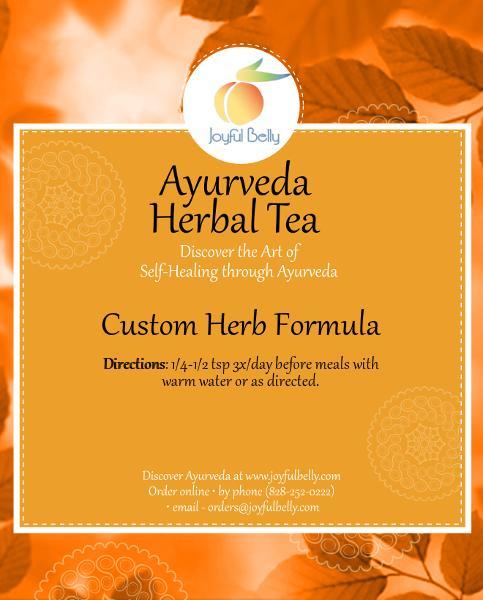 Ayurveda Custom Herb Formula