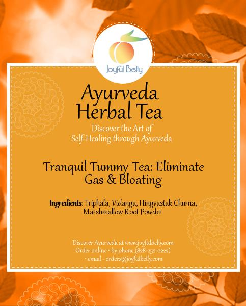 Ayurveda Tranquil Tummy Tea: Eliminate Gas & Bloating