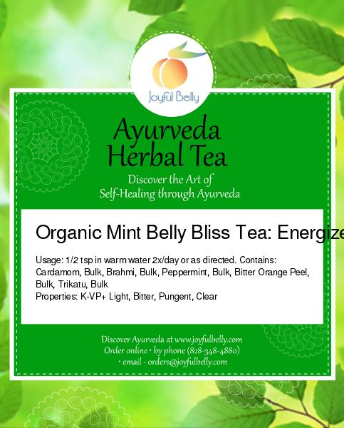 Mint Belly Bliss Tea: Energize & Awaken