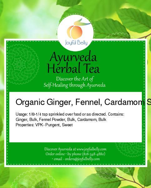 Ginger, Fennel, Cardamom Spice Blend