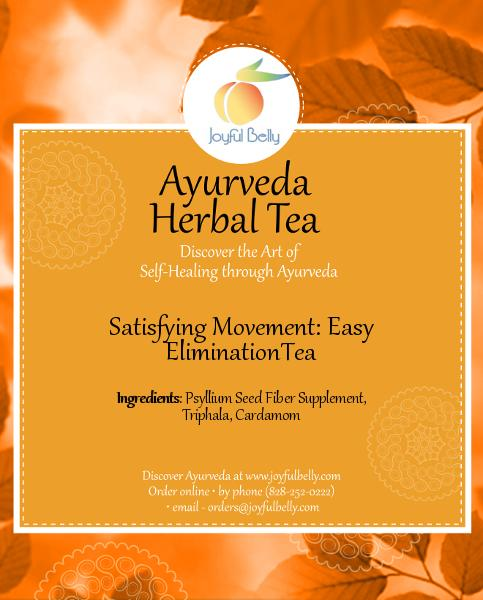 Ayurveda Satisfying Movement: Easy Elimination Tea