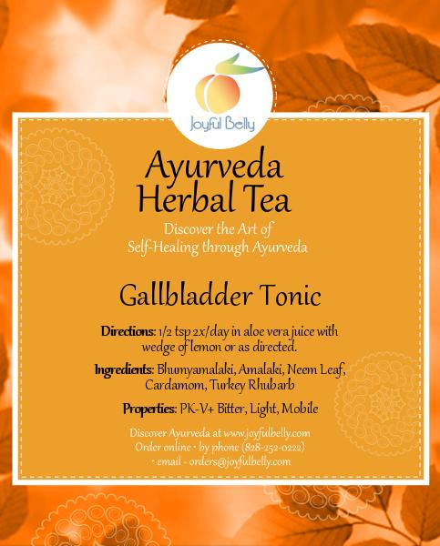 Ayurveda Gallbladder Tonic