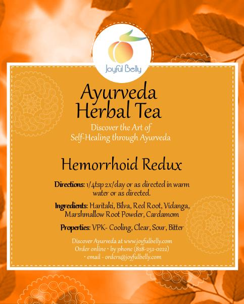 Ayurveda Hemorrhoid Redux