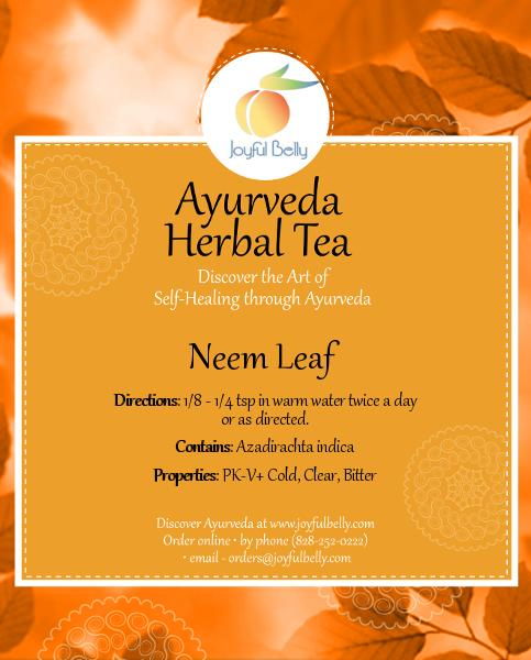 Neem Leaf - Ayurvedic Diet & Recipes
